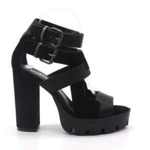Lug Sole Heels - Black (size 6 & 10)